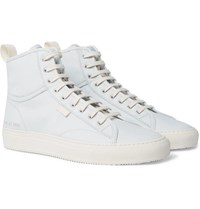 Common Projects Tournament Nubuck High Top Sneakers Light Blue
