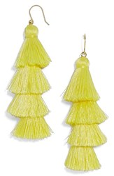 Baublebar Women's Gabriela Fringe Earrings Yellow