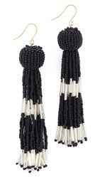 Vanessa Mooney The Damzel Earrings Black Silver
