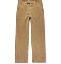 Our Legacy Cotton Moleskin Trousers Camel