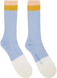 Stella Mccartney Blue Short Striped Socks