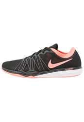 Nike Performance Dual Fusion Tr Hit Sports Shoes Black Lava Glow Dark Grey Pale Grey