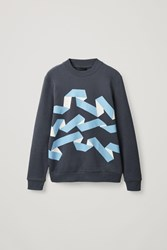 Cos Graphic Print Sweater Grey