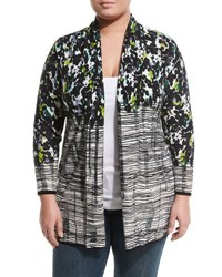 Nic Zoe Greenway Open Front Cardigan Multi
