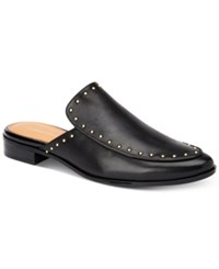 Calvin Klein Floral Studded Slip On Mules Women's Shoes Black