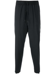 Etudes Studio Cropped Tapered Trousers Black