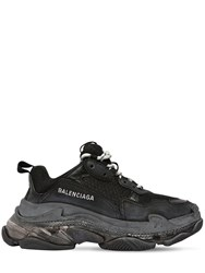 Balenciaga 60Mm Triple S Air Washed Leather Sneaker Black