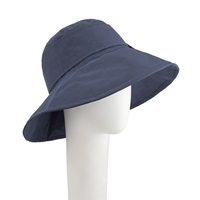 John Lewis Down Brim Buckle Rain Hat Navy