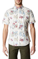 7 Diamonds Island In The Sun Trim Fit Short Sleeve Sport Shirt Natural