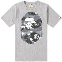 A Bathing Ape City Camo Big Head Tee Grey