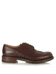 Cheaney Avon Lace Up Brogues Red