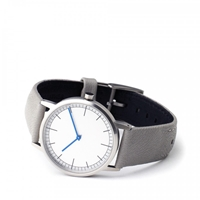 Uniform Wares 152 Br 01 Series Brushed Steel Grey Leather Atoo.Co.Uk