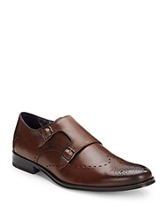 Robert Graham Madison Double Monk Strap Leather Shoes