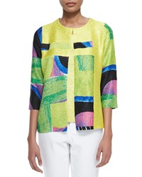 Berek New Abstract Crinkle Jacket Women's Multi Colors