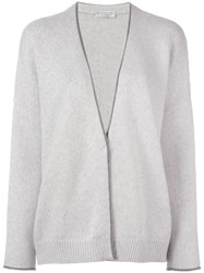 Brunello Cucinelli Beaded Trim Cardigan