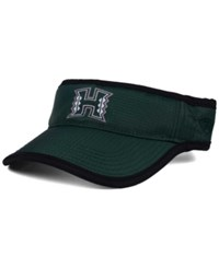 Top Of The World Hawaii Warriors Baked Visor Green
