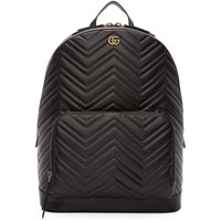 Gucci Black Quilted Gg Marmont Backpack