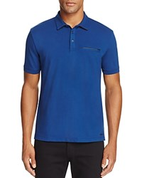 Hugo Dolorino Baby Pique Slim Fit Polo Shirt Blue