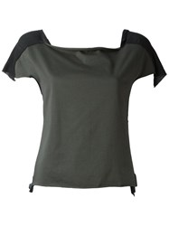 Ma Square Neck Blouse Green