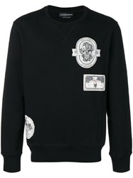 Alexander Mcqueen Patch Detail Sweatshirt Black