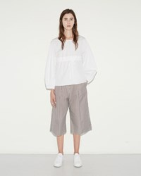 Ports 1961 Stripe Trousers Ivory And Brown