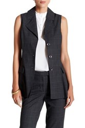 Nanette Nanette Lepore Glen Plaid Vest Gray