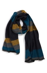 Ted Baker London Striped Scarf Mustard
