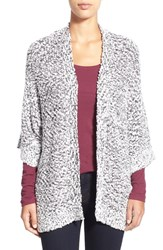 Women's Chaus Open Front Marled Cardigan Winter White