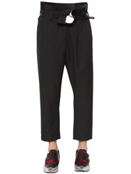 Haider Ackermann Asymmetrical Wool Pique Pants