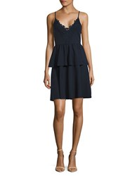 Vero Moda Ruffle Lace Dress Navy