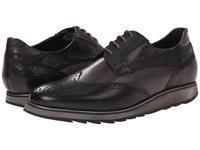 Messico Pedro Black Grey Leather Men's Dress Flat Shoes Multi