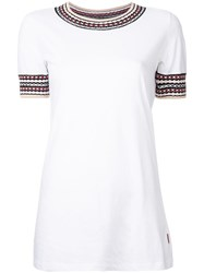 Missoni Geometric Collar Embroidery T Shirt White