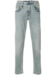 R 13 R13 Five Pockets Tapered Jeans Blue