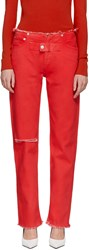 Alyx Red Straight Leg Jeans