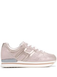 Hogan Side Logo Metallic Trainers 60