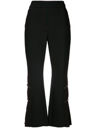 Ellery Pleated Detail Cropped Trousers Black
