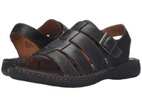 Born Joshua Black Full Grain Leather Men's Sandals