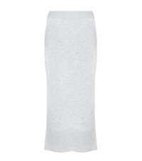 Victoria Beckham Wool Pencil Skirt Grey
