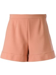 Red Valentino Tailored Shorts Women Polyester Spandex Elastane Viscose 42 Pink Purple
