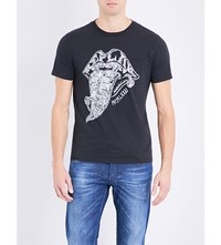 Replay Rolling Stones Cotton T Shirt Nearky Black