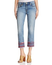 Tory Burch Myers Cropped Bootcut Jeans Sail Wash