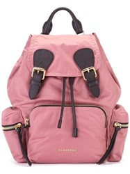 Burberry The Rucksack Backpack Pink Purple