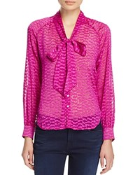 Cooper And Ella Sofia Tie Neck Blouse 100 Bloomingdale's Exclusive Orchid