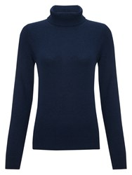 John Lewis Cashmere Roll Neck Jumper Navy