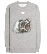 Givenchy Printed Cotton Sweater Grey