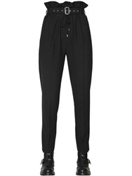 Diesel Black Gold Cool Wool High Waisted Belted Pants