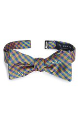 Ted Baker Men's London Bejeweled Check Silk Bow Tie