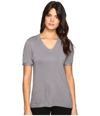 Blank Nyc Loose T Shirt In Grey Matters Grey Matters T Shirt White
