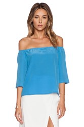 Autograph Addison Dudley Off Shoulder Top Blue