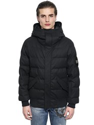 Dolce And Gabbana Quilted Drill Wool Down Jacket